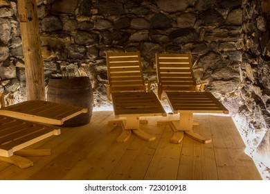Relaxation area of a private sauna - Germany