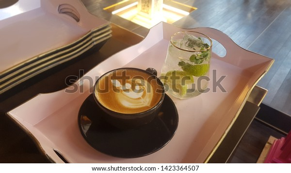 Relaxation Decent Coffee Friends Tea Chilling Stock Photo