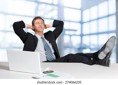 Relaxation, Men, Business.