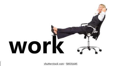 relaxed businesswoman away from work
