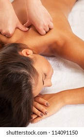 Relaxed girl on spa procedure