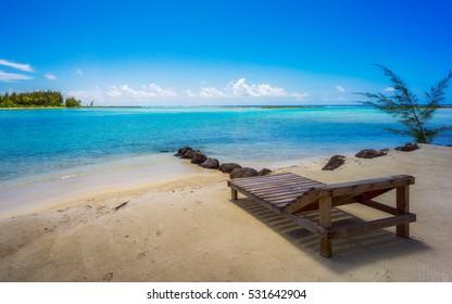 Relaxing at the beach in Bora Bora