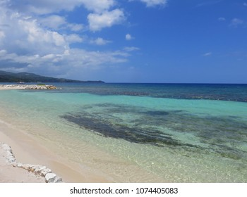 Relaxing beach and ocean view Montego Bay Jamaica