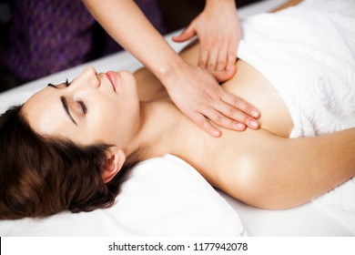 Relaxing breast massage