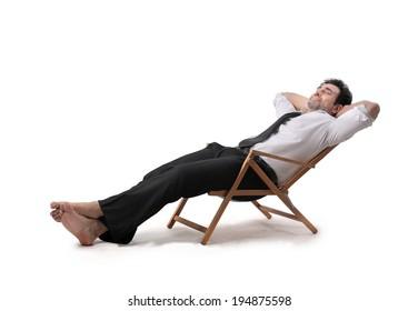 relaxing businessman