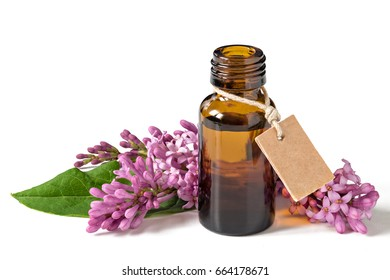 Relaxing essential oil, fresh flowers, relaxation. Isolated on a white background.
