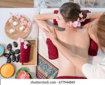 Relaxing massage,spa concept