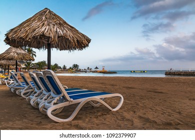 Relaxing on the Beach in Runaway Bay, St Ann, Jamaica.