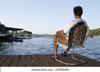 Relaxing on a dock at Lake of the Ozarks
