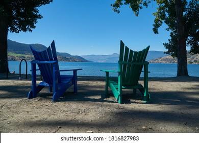 Relaxing on Kin Beach - Okanagan Lake