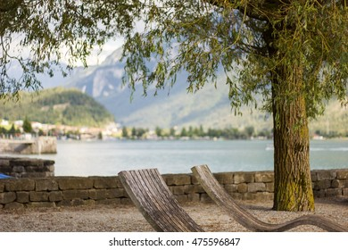 Relaxing on Lake Brienz