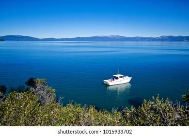 Relaxing on Lake Tahoe
