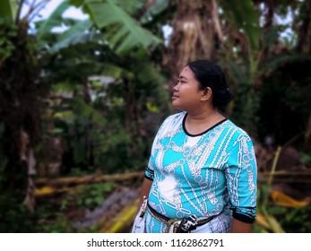 Relaxing In The Plant Field At Banjar Tuka Village, Badung, Bali, Indonesia