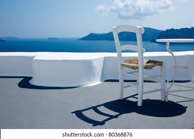 Relaxing in Santorini