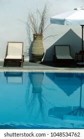 Relaxing scene at Swimming pool