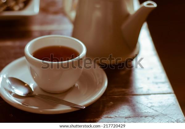 The Relaxing Time of Tea Break.
