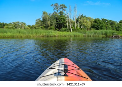 Relaxing trip down the Taunton River in a kayak
