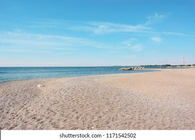 A relaxing view of Kew-Balmy Beach in Toronto, one of a many beach sections that make up the neighbourhood's waterfront.