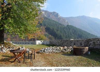 relaxs and enjoy in stunning atmosphere in autumn time on fortress in Travnik,Bosnia and Herzegovina