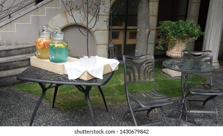 relaxzation space at the garden