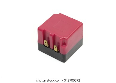 relays on the white background