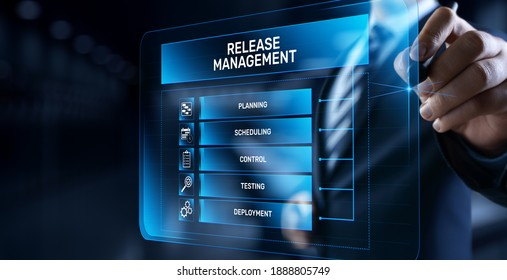 Release management software development and testing concept.
