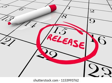 Release New Product Launch Available Calendar Day 3d Illustration