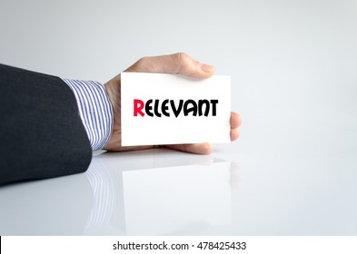 Relevant text concept isolated over white background