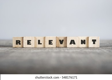 RELEVANT word made with building blocks