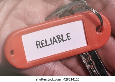 RELIABLE word written on key chain