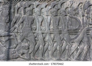 Relief of Alexander the Great ,Thessaloniki city in Greece