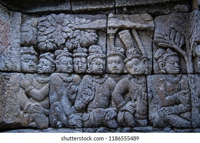 Relief of Borobudur Temple, Jogja, Indonesia 9
