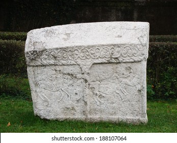 Relief of Bosnian nations tombstone stecak