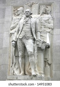 Relief of George Washington on the Washington Square Arch in New York