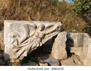 Relief of Goddess Nike, Ephesus, Turkey.  See the �Swoosh� in Her Skirt?