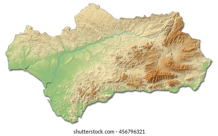 Andalucia Map Images Stock Photos Vectors Shutterstock