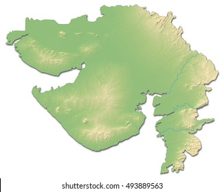 Gujarat Map Images Stock Photos Vectors Shutterstock