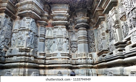Relief on outer wall of Chennakeshava Temple, Belur, Hassan District of Karnataka state, India. It was commissioned by Hoysala Empire King Vishnuvardhana in 1117 CE.