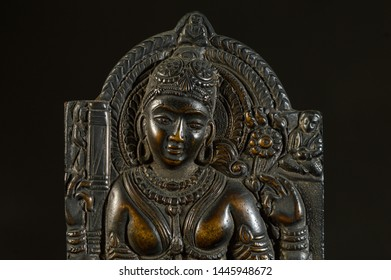 Relief is a sculpture technique, statue of relief work isolated on black background New Delhi, India 19-11-2018
