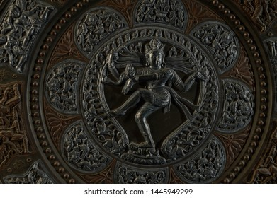 Relief is a sculpture technique, statue of relief work isolated on black background New Delhi, India 16-11-2018