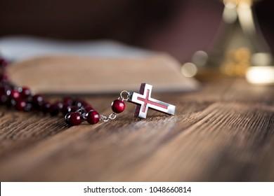 Religion. Christianity. Holy communion. Catholic theme.