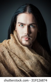 Religion and Christianity. Portrait of Jesus Christ of Nazareth.