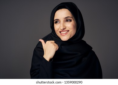 religion woman black hijab