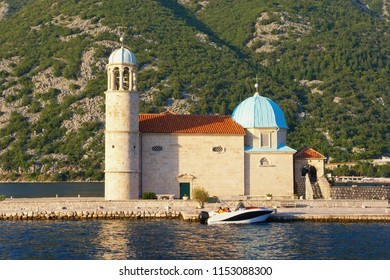 Religious architecture. Church of Our Lady of the Rocks ( Gospa od Skrpjela ). Montenegro,  Bay of Kotor