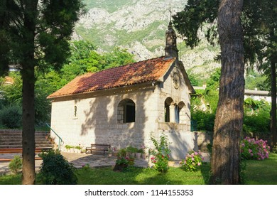 Religious architecture.  Montenegro, Risan town, Orthodox Church of St. Michael the Archangel
