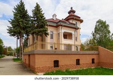 Religious diocese. City landmark building. Illustrative editorial. May 13, 2021 Balti Moldova. Background