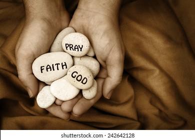 Religious Message Stones