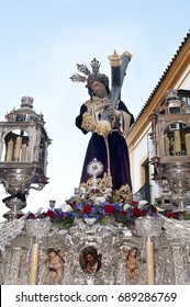 Religious sculpture of Jesus Christ during the holy week in Seville. Spain.