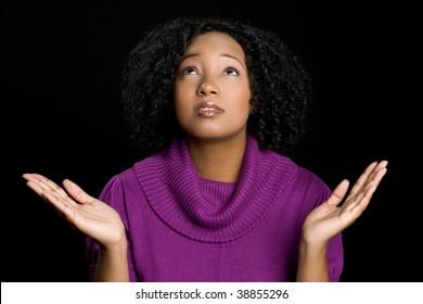 Religious Woman Worshiping