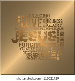 Religious Words Gold Style Background